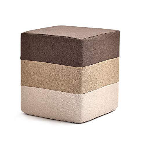 Monthyue Ottomaanse kruk, vierkante voetbank Ottomaanse eenvoudige schoen bank huis massief hout stoel stijlvolle bank bed einde stoel creatieve kleine bank