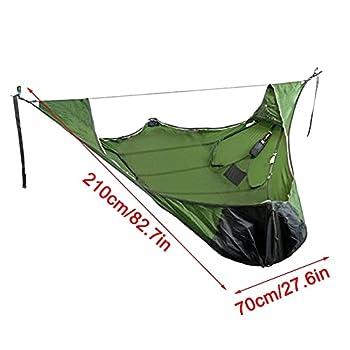 Tente de hamac de Sommeil Plat avec Filet Anti-Insectes et kit de Suspension, hamac de Camping, Tente de Camp en Plein air, hamac Pliable, pour Les randonnées de Voyage (Vert)