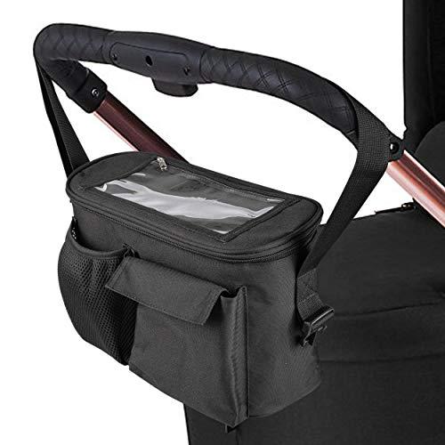 ONVAYA® Kinderwagen Organizer | Wickeltasche | grau oder schwarz | Babytasche (Schwarz)