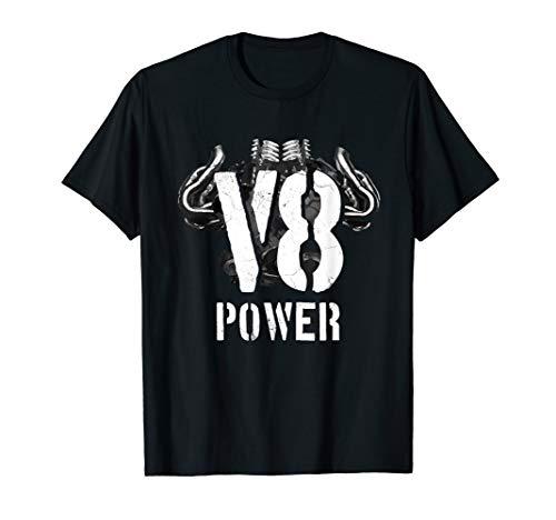 V8 Powered V Motor Muscle Car Pickup SUV Fan T-Shirt