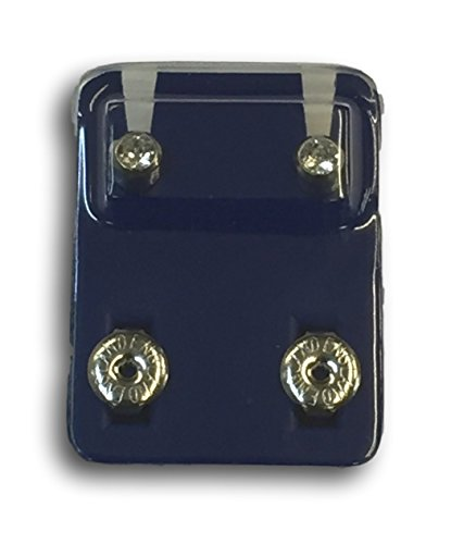 Caflon Official Blu Ear Piecing Crystal Studs - Choose your Colour/Style (Regular Ball, Stainless Steel)