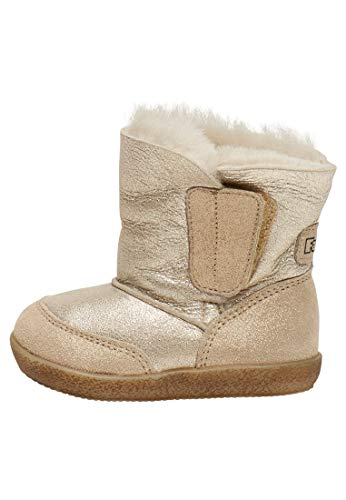 Falcotto Girl's Snow Boots, Gold, 3 UK Child