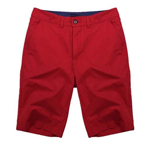 N\P Pantalones cortos de algodón para hombre hasta la rodilla Chinos Pantalones cortos