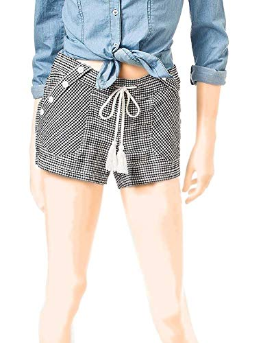 Jolt Juniors' Shorty Women's Gingham Sailor Body Short Black (7)