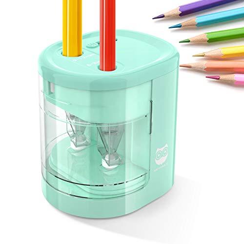 Spitzer Elektrisch Kleines Elektrisches Zubeh/ör f/ür Kinder Schule Klassenraum Buntstifte EisEyen Automatischer Batterieleistung Spitzmaschine Elektrischer Anspitzer Bleistifte bleistiftspitzer