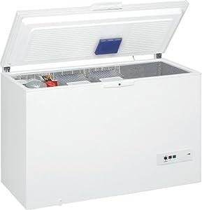 Congélateur coffre Whirlpool WHM39112 - Froid statique / 390 litres / Blanc / A++ / Pose libre / Super isolé