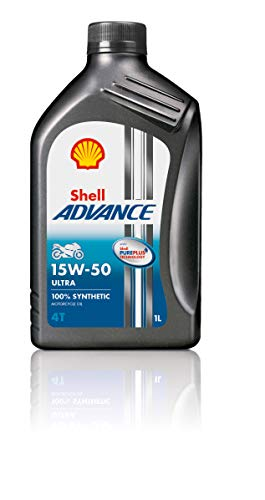 Shell - Advance 4t 15 w-50 Ultra Pure Plus Technology - Aceite para Motor 100% sintético - 1 litro