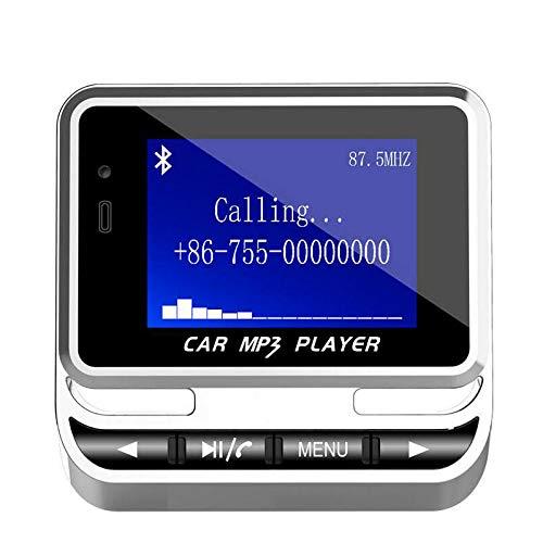 YTGUEVKDH Kit Schermo LCD FM12B Wireless FM Transmitter Bluetooth del Giocatore di MP3 con Il Caricatore di Sostegno TF Card USB Line-in AUX