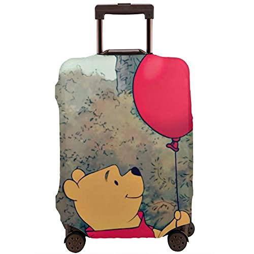 Winnie Cartoon Pooh Maleta Funda Protectora Banda Elástica Caja Protectora Anti-arañazos Las Mangas Elásticas Gruesas son Fácil de limpiar, Impreso Elegante y Lindo