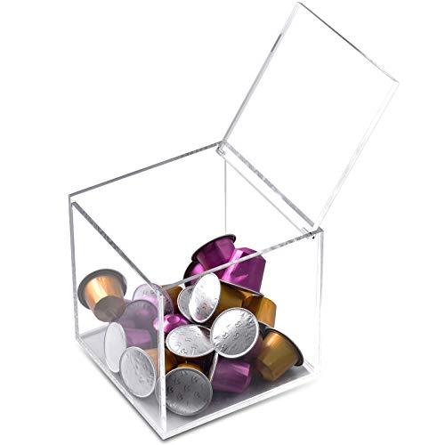 Coffee Pod Holder for Nespresso Capsules Vertuoline Tea Bag Organizer Clear Acrylic Dispenser