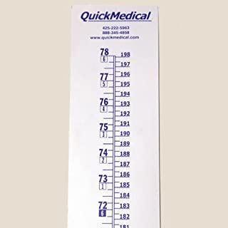 QuickMedical QM338 Wall Growth Chart, Height Chart Only, Each