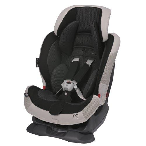 エールベベ チャイルドシート 1歳から 使える シートベルト 固定 スイングムーン プレミアム モノブラック リクライニング機能付き ALC460