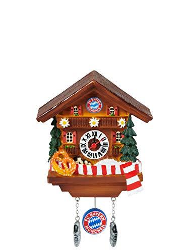 FC Bayern München Magnet - Kuckucksuhr - mit Uhrwerk und Pendel FCB Uhr