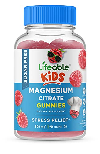 Lifeable Sugar Free Magnesium Citrate for Kids – Great Tasting Natural Flavor Gummy Supplement – Gluten Free Vegetarian Chewable – Regulate Nervous System – for Children, Teen, Toddler – 90 Gummies