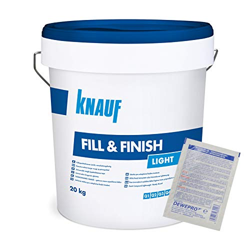 Knauf Fill & Finish light - Allzweckspachtelmasse - im Set inkl. 1 St. DEWEPRO® Single Scrubs