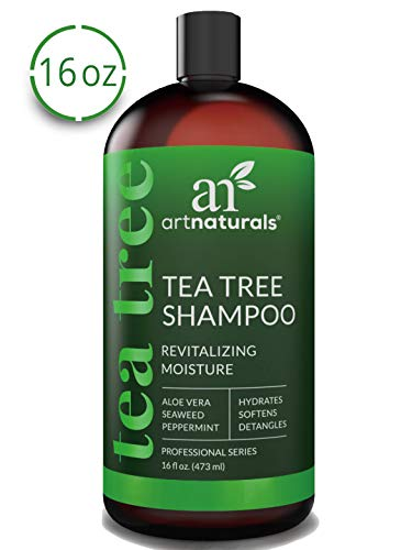 ArtNaturals Tea Tree Shampoo - (16 Fl Oz / 473ml) - Sulfate Free – Made with 100% Pure Therapeutic...