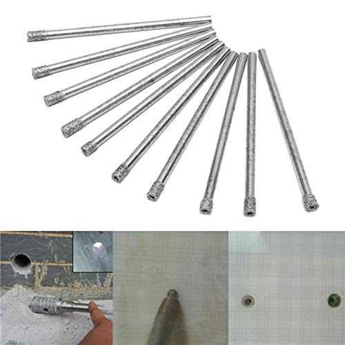 RanDal 10 Stücke 3 Mm Diamant Beschichtete Lochsäge Bohrer Set Kern Marmor Glas Granit Bohrer
