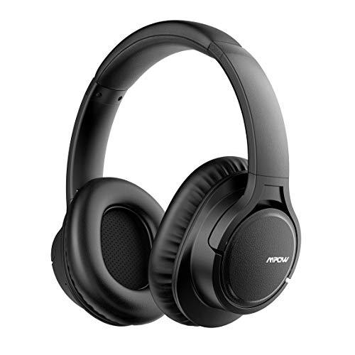 Mpow H7 Cuffie Bluetooth Over Ear, Cuffie wireless, 18 ore di tempo di indipendenza, CSR chip, CVC 6.0 noise canceling microfono per chiamate memory-protein per cellulare/tablet, nero.