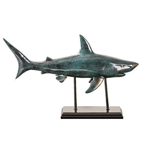 WGGTX Dekorative Ornamente Shark Dekoration Statue, Handwerk zum Wohnzimmer Bürotischhauptdekoration Büroeinrichtung