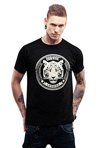 NORVINE T-Shirt Tiger, Größe:S, Farbe:Black