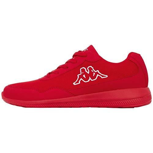 Kappa FOLLOW OC XL | Freizeit-Sneakers für Frauen und Männer | super-leicht, modisch und zeitlos | angenehmes Tragegefühl | atmungsaktiv, Größe 47 - 502010 red/white, Größe 48
