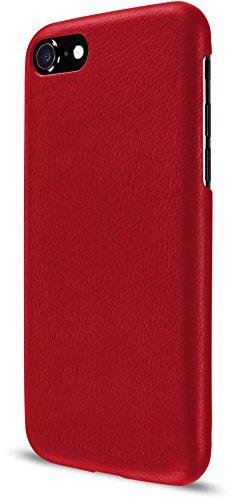 Artwizz 1125-1862 Leather Clip Schutzhülle aus Leder für iPhone 8 & 7 - Schutzclip aus hochwertigem Kalbsleder mit Mikrofleece-Beschichtung im Innern - Rot
