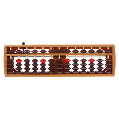 DEARLOYEA Coluna portátil japonesa de 13 dígitos Abacus Aritmética Soroban Caculating School Ferramenta de Aprendizagem de Matemática