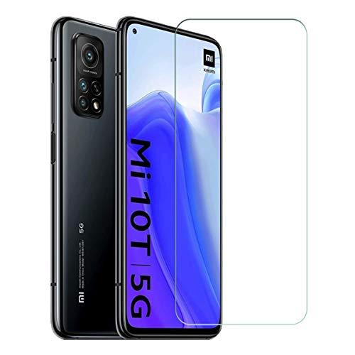 ELYCO Vetro Temperato Pellicola Protettiva per Xiaomi Mi 10T, [2 Pezzi] [Anti-Graffo/Olio/Impronta] 9H Durezza Niente Bolle Vetro Temperato Screen Protector per Xiaomi Mi 10T