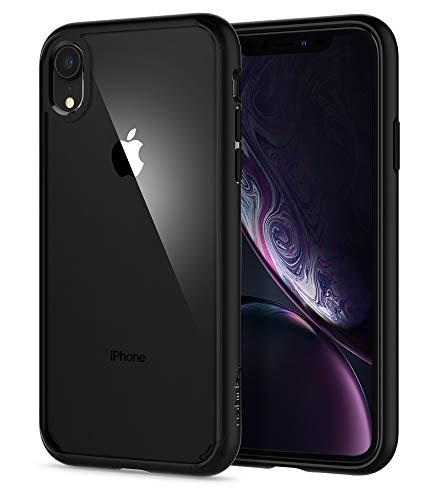Spigen Cover Ultra Hybrid Compatibile con iPhone XR- Nero Opaco