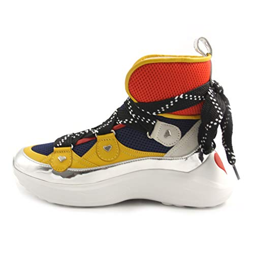 Love Moschino Chaussures Femme Baskets Haute Fantasy Tricolore FW 19-20