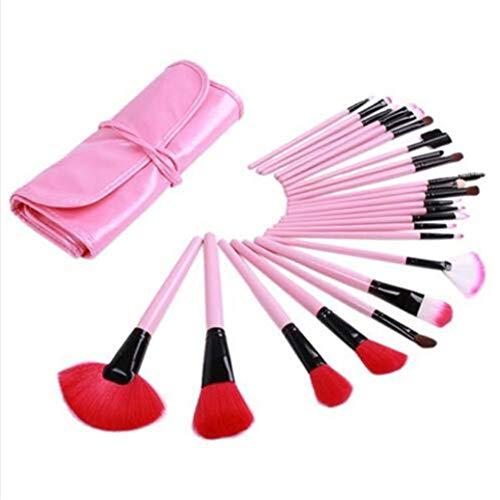 GOMYIE 24pcs maquillage pinceau ensemble pour les filles cadeau outils de beauté professionnels,Rose