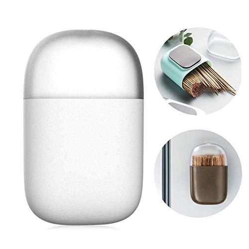 hongyupu Gadgets Originales Regalo Original De Almacenamiento de Cocina Hecho palillo de Dientes Caja De plástico palillo contenedor Cóctel Palos White