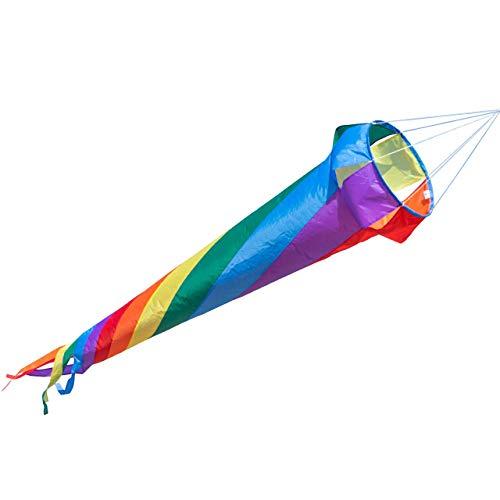 CIM Manga de aire - Windturbine 150 RAINBOW - resistente a rayos UV/resistente a la intemperie - Ø35cm, Largo 150cm - gancho de rodamiento a bolas giratorio incluido