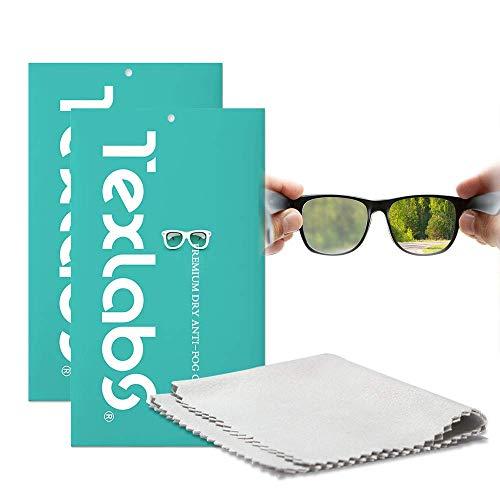 Antibeschlagtuch Brille(2 Stück),Anti-Fog-Tuch,Anti-Beschlag-Reinigungstücher für Brillen,wiederverwendbare Brillentücher für Objektive,Brillen,Telefon,LCD-TV-Bildschirme,Auto,Kamera(15x15 cm)