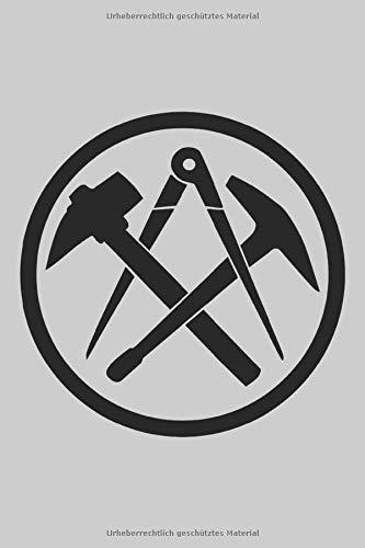 Dachdecker Symbol: Handwerker Zunftzeichen im Kreis Dachdeckerei Geschenke Notizbuch Punkteraster gepunktet (A5 Format, 15,24 x 22,86 cm, 120 Seiten)