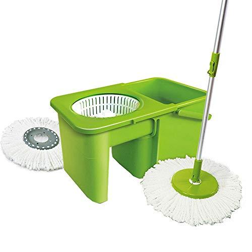 InChengGouFouX 360 graden Spinning Mop 360 Spin Mop & Emmer Systeem Zelf Wringing Lengte Verstelbare Mop Paal Hardhout Vloer Reiniging Systeem Vloer Reiniging