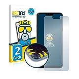 BROTECT Full-Cover Schutzfolie Matt kompatibel mit LG G7 One (2 Stück) - Full-Screen Bildschirmschutz-Folie, 3D Curved, Anti-Reflex
