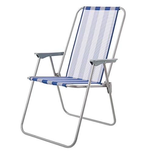 LOLAhome Silla Plegable clásica de Hierro para Camping o Playa (53 x 46 x 88 cm)