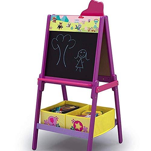 Maltafel aus Holz für Kinder ab 3 Jahre Standtafel Magnettafel Whiteboard Kreidemaltafel Kindermaltafel Buchstaben ABC Magnet Paw