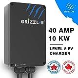 Grizzl-E Level 2 EV Charger, 16/24/32/40 Amp, NEMA 6-50/14-50 Plug, 18 feet/24 feet Premium/Regular Cable, Indoor/Outdoor Car Charging Station(14-50 Plug, 24 Feet Regular Cable)