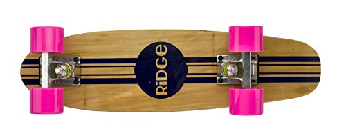 Ridge Maple Mini Retro Cruiser Skateboard, Unisex, Rosa, UK: 22 Inch