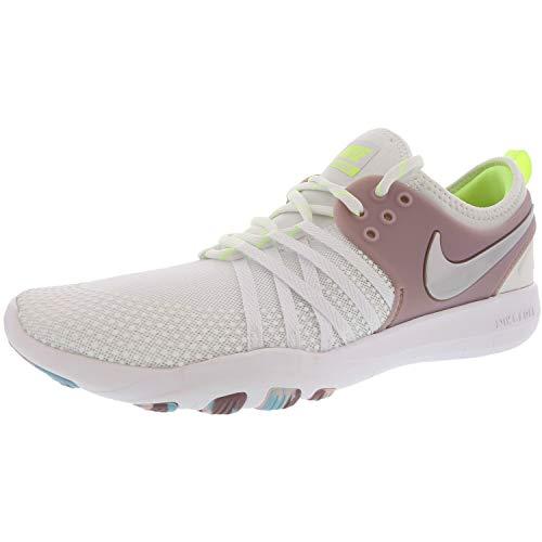 Nike Wmns Free TR 7, Scarpe da Fitness Donna, Bianco (White/Metallic Silve 102), 38.5 EU