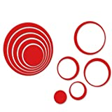 WOCACHI Wall Stickers Decals Indoors Decoration Circles Stereo Removable 3D Art DIY Wall Sticker RD Art Mural Wallpaper Peel & Stick Removable Room Decoration Nursery Decor