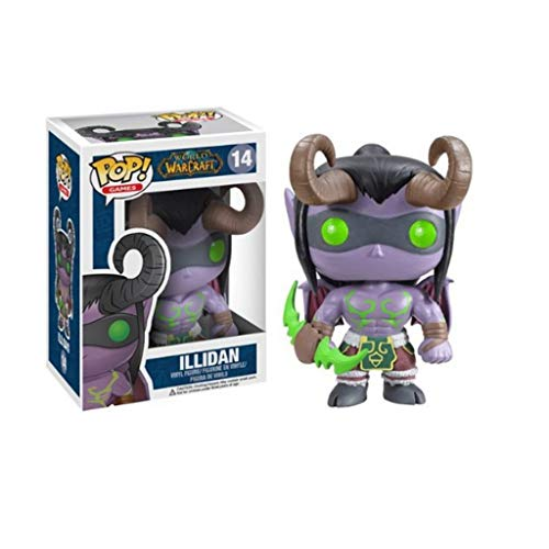 ZRY Juego: World of Warcraft - Illidan: Pop!Figura PVC de la Historieta Popular y Encantador con la decoración de la Mejor colección de World of Warcraft Aficionados tamaño: 10 cm
