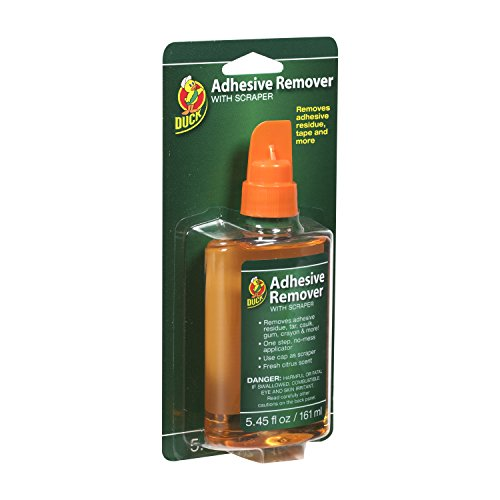 Duck Brand 527263 Adhesive Remover 5.45-Ounce Bottle with Scraper Cap,Multicolor