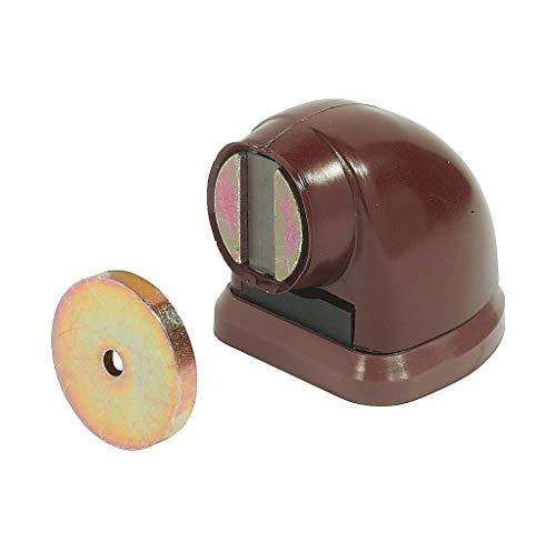 Gedotec Torstopper braun Türstopper magnetisch Türfeststeller für Bodenmontage | Torfeststeller für ein Türgewicht bis 20 kg | Boden-Stopper mit Magnet | 1 Stück - Boden Tür-Magnet extra Stark