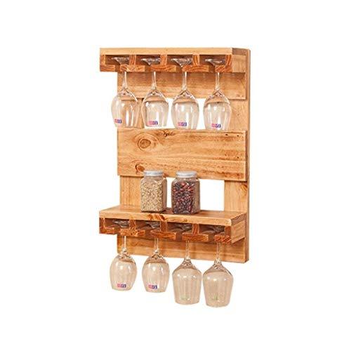 Wijnfleshouder voor wandmontage van massief grenenhout, wijnglas om op te hangen aan flessen, drijvende rekken voor restaurants, voor dagelijks gebruik