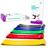 Insonder Resistance Bands Set - Latex Exercise Loop Bands for Workout and Stretching for Legs Butt Glutes Yoga Crossfit Fitness Physical Therapy Mini Home Equipment Training for Women Men