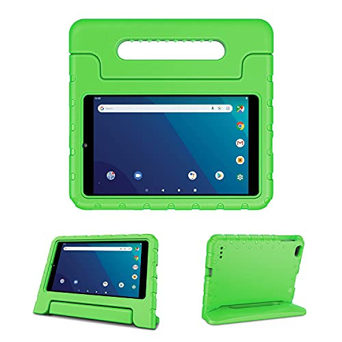 Kids Case for onn. 8  Tablet Pro(Model 100003561), Light-Weight EVA Soft Foam Durable Rugged Shockproof Kidsproof Foldable Convertible Handle Kickstand Cover for Teenagers - Green