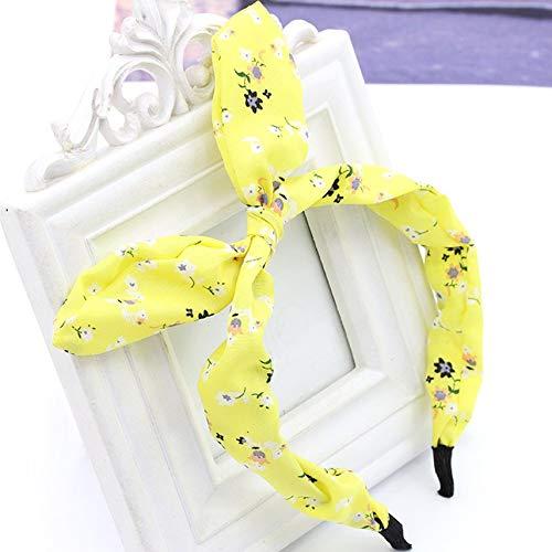 Eenvoudige stijl bloem boog haarband mode golf punten konijnenoren haarspeld